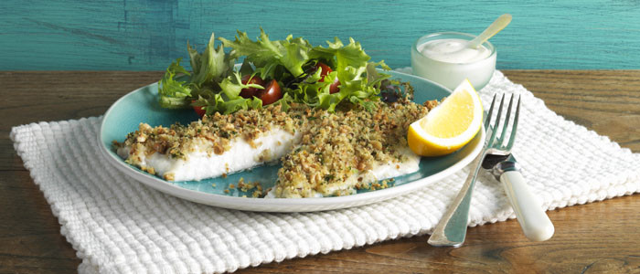 Almond and Herb Crusted Fish