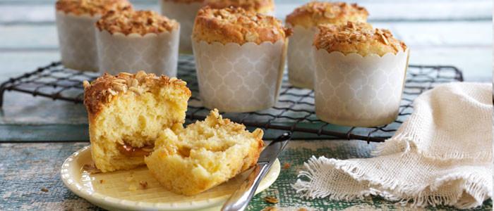 Anzac Crumble Lemon Cupcakes