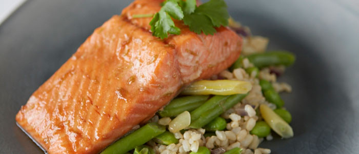 Asian Baked Salmon with SteamFresh Veges