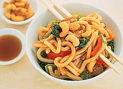 Asian Pork with Vegetables and Noodles