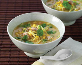 Asian-Style Chicken, Corn and Noodle Soup