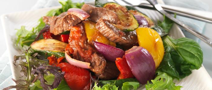 BBQ Lamb and Summer Vegetable Salad