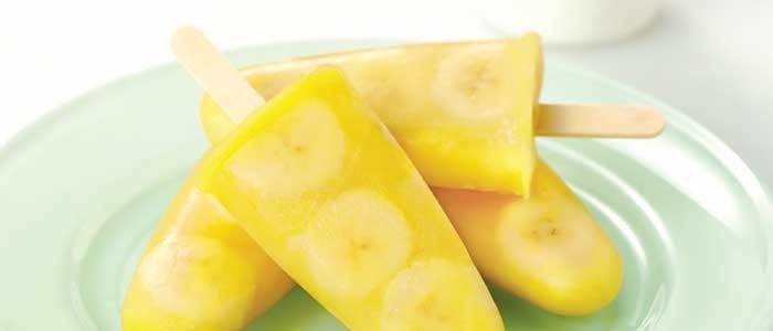 Banana and Mango Ice Pops