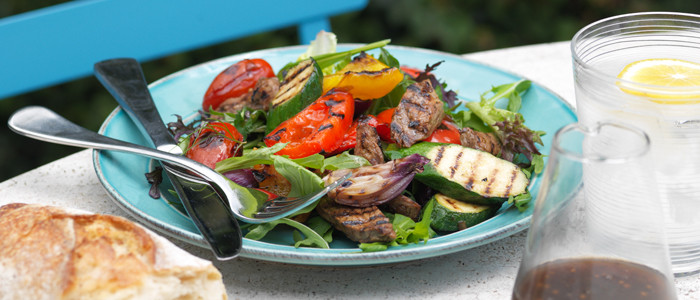 Barbecue Lamb and Summer Vegetable Salad