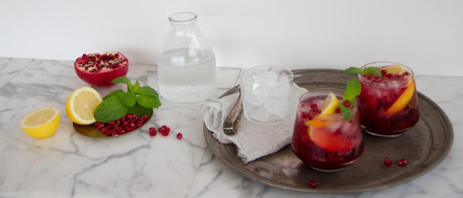 Boysenberry, Lemon and Mint Fizz Mocktail