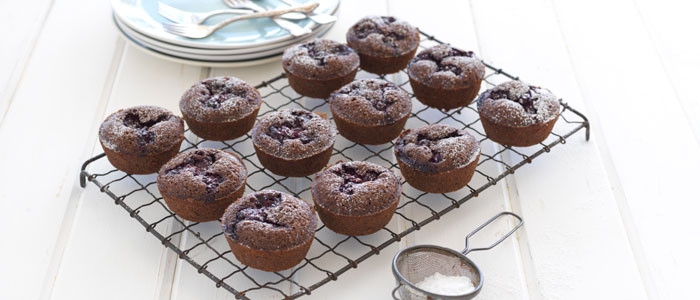 Boysenberry and Chocolate Friands