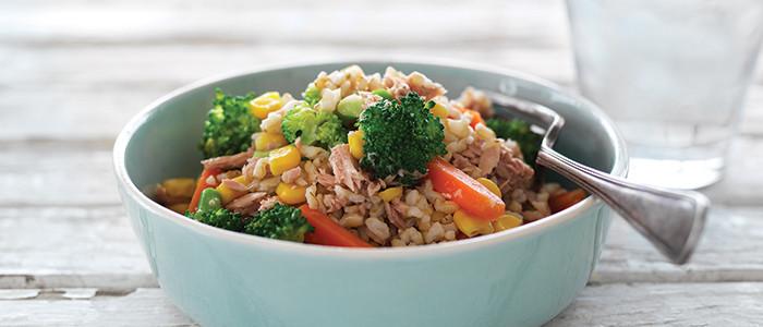 Brown Rice and Vege Salad