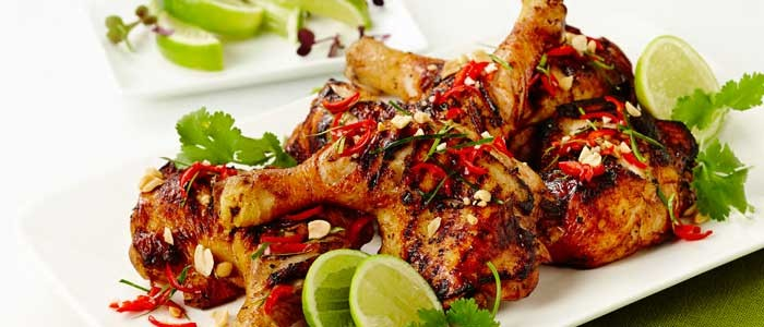 Chargrilled Chicken with Guava, Lime and Lemongrass