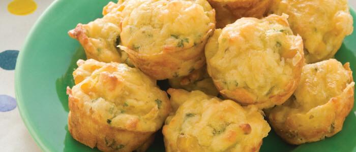Cheese & Corn Mini Muffins