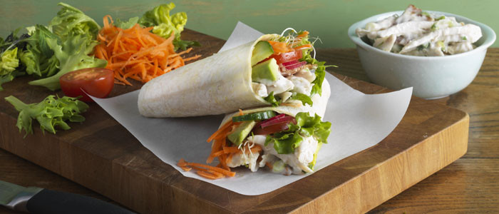 Chicken, Bacon and Mayo Wraps