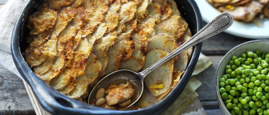 Chicken, Potato & Cannellini Bake