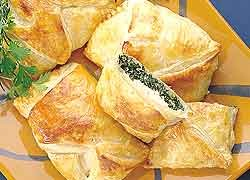 Chicken and Spinach Pies