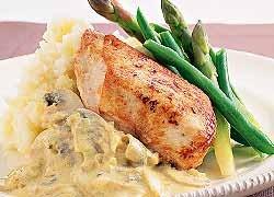 Chicken with Mustard Crème Fraiche