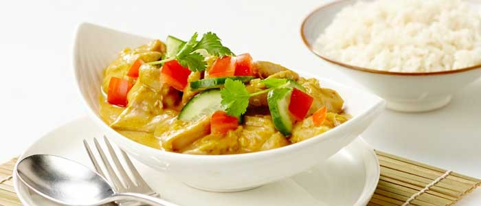 Coconut & Mango Red Chicken Curry