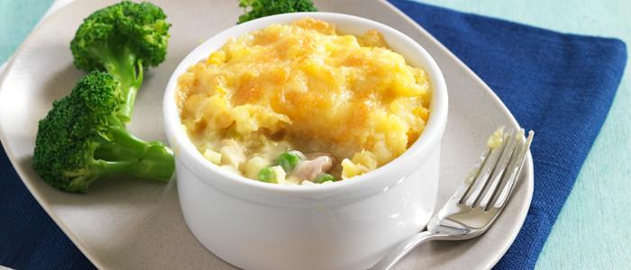 Corn and Potato-Topped Chicken Pie
