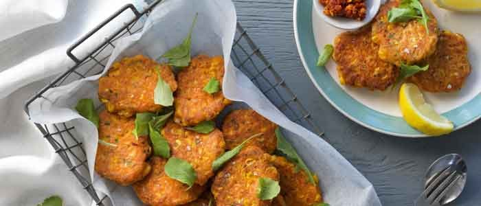 Corn and Sundried Tomato Fritters