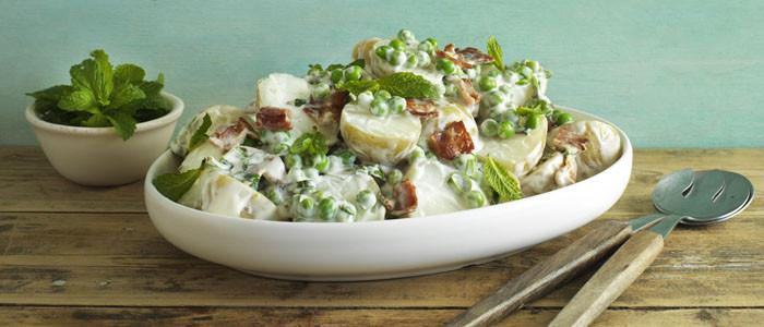 Creamy Potato, Bacon and Pea Salad