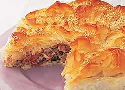 Creamy Smoked Chicken Filo Pie