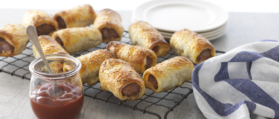 Curried Lamb Sausage Rolls