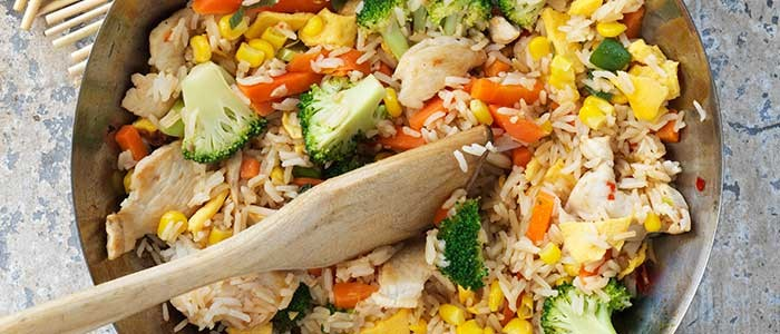 Easy Chicken & Vegetable Fried Rice