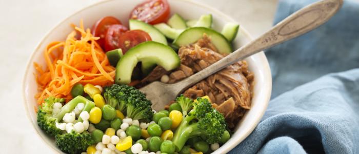 Easy Couscous, Veg & Tuna Lunch Bowl