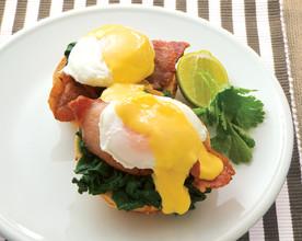 Eggs Bene with Easy Lime Hollandaise