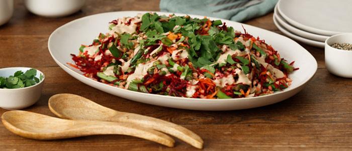 Farro, Beetroot & Asparagus Salad