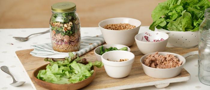 Farro, Tuna & Asparagus Salad