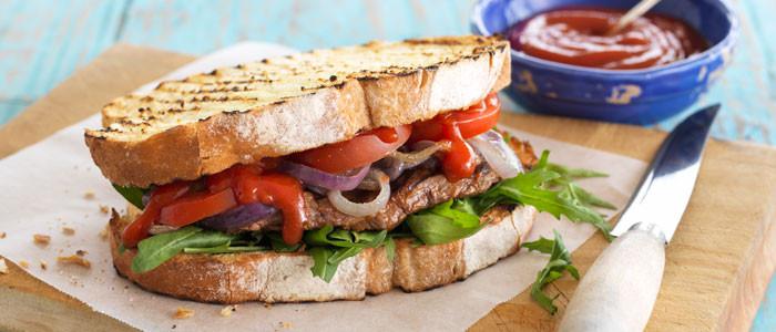 Fiery Chilli Steak Sandwich