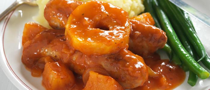 Fruity Devilled Sausages
