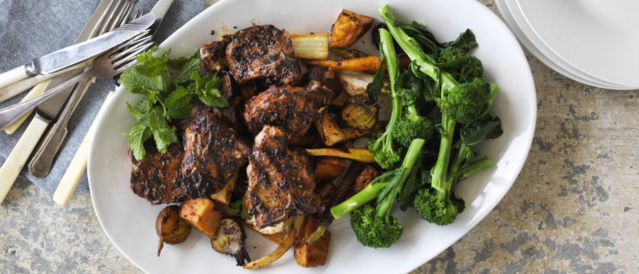 Grilled Lamb with Root Vegetables and Sumac