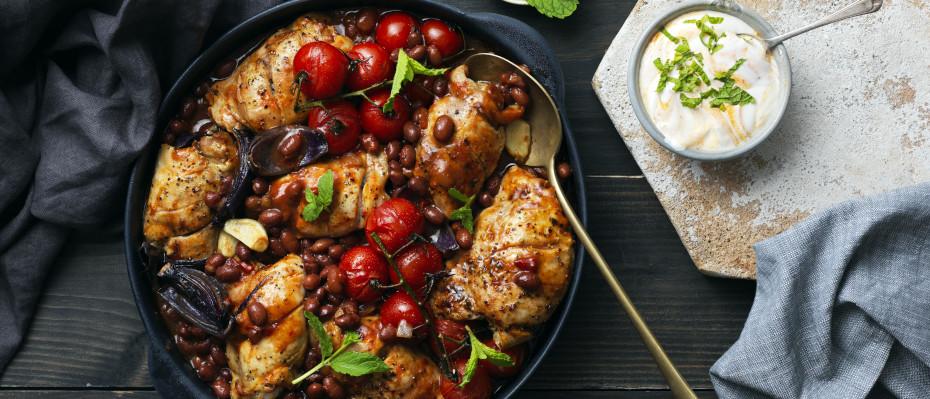 Harissa Chicken and Chilli Bean Bake