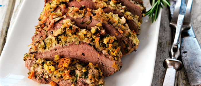 Herb Crusted Lamb with Roasted Vegetables