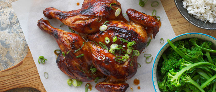 Honey Soy Butterflied Chicken with Sesame Rice