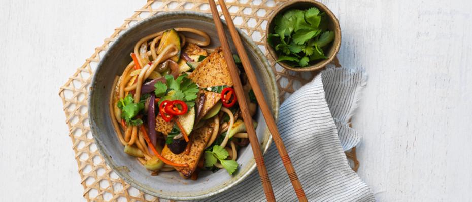 Honey Soy Tofu Stir-Fry Noodles