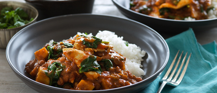 Indian Lentils with Chicken and Spinach