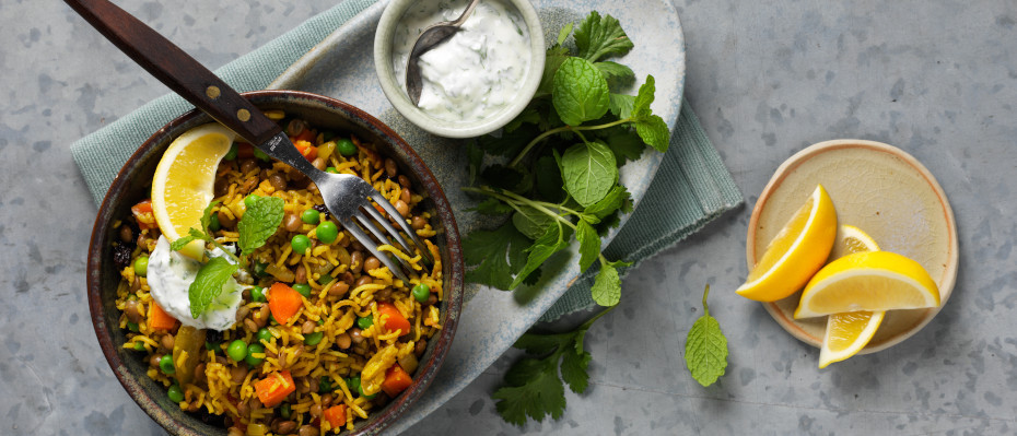 Indian Spiced Lentil And Vegetable Pilaf