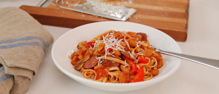 Italian Cannellini Beans with Chorizo and Red Capsicum