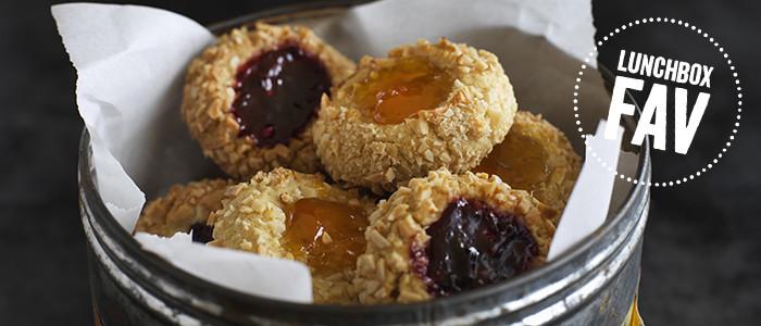 Jam & Almond Thumbprint Cookies