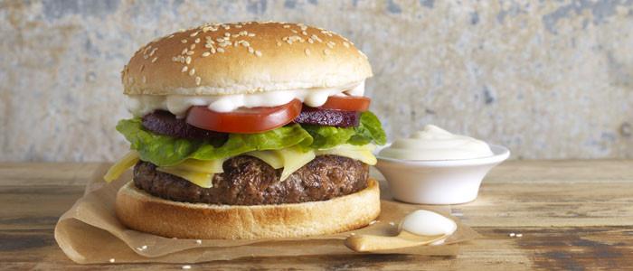 Juicy Mayo Beef Burgers