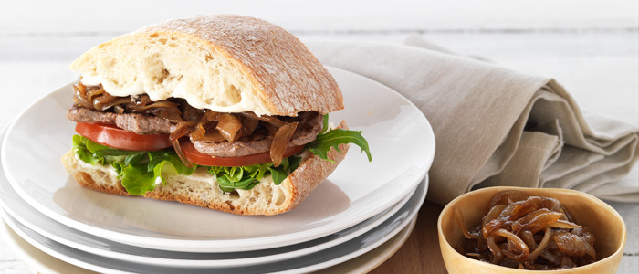 Kiwi Steak and Onion Sandwich