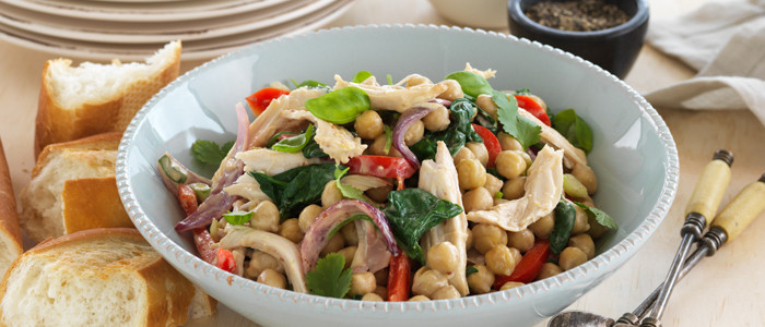 Leftover Turkey and Chickpea Toss