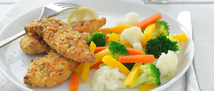 Lemon and Herb Crumbed Chicken