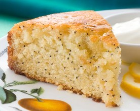 Lime, Poppy and Pineapple Syrup Cake