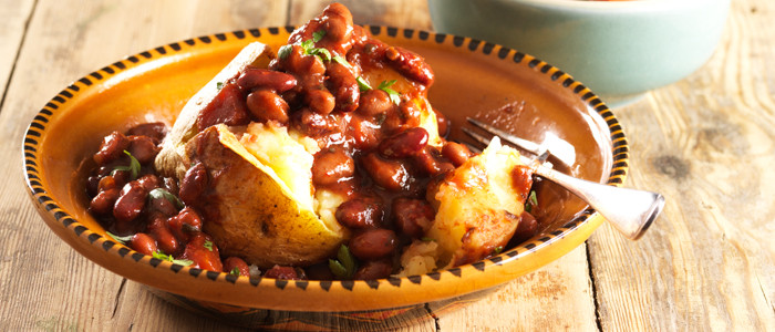 Mexican Beans and Baked Potato