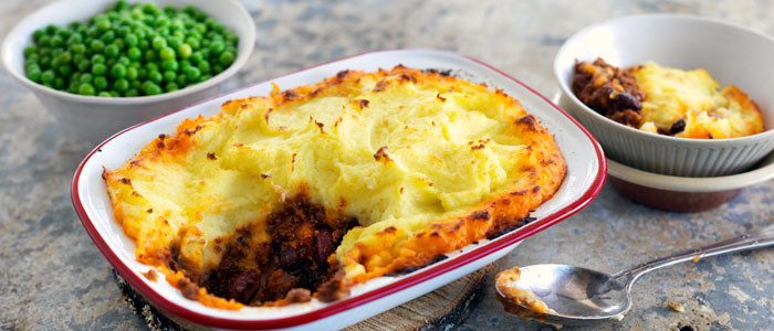 Mexican Beef and Beans Cottage Pie