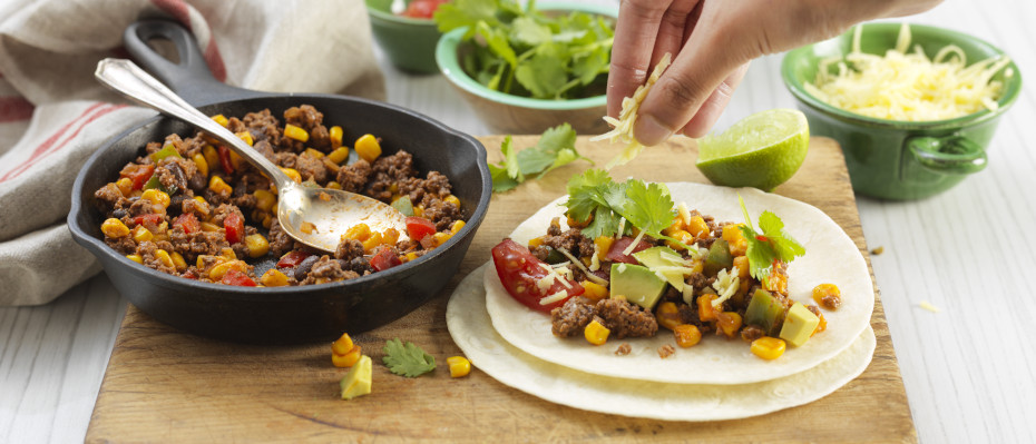 Mexican Beef and Vegetable Wraps