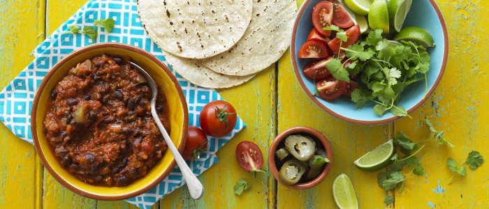 Mexican Black Beans and Tomatoes