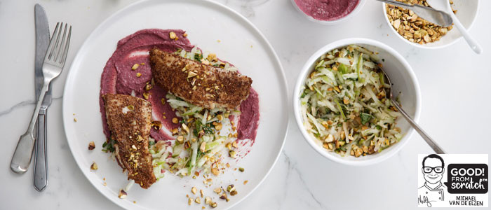 Michael's Dry Rubbed Fish With Apple Slaw