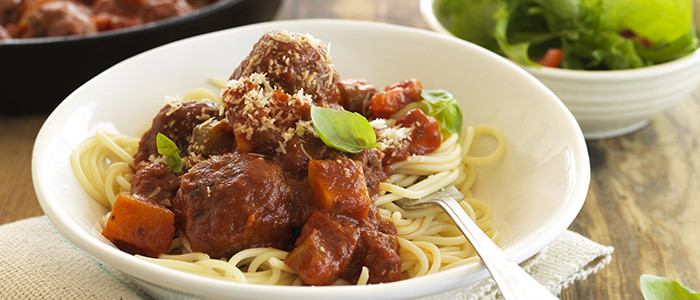 Moreish Meatballs in Tomato and Sweet Basil Sauce